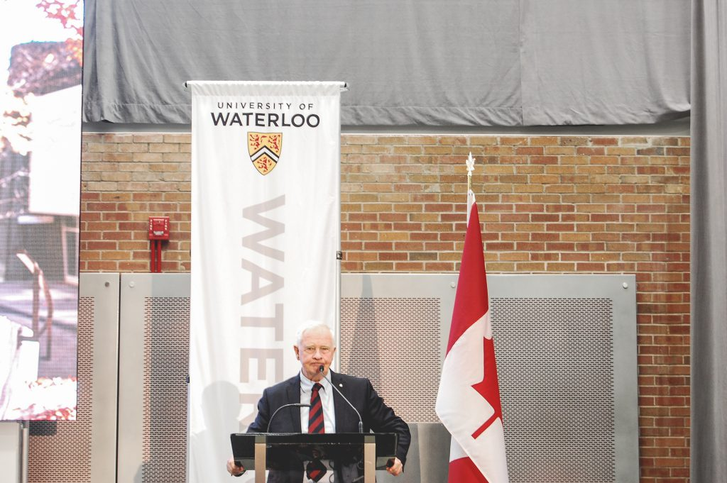 Governor General David Johnston speaking at Hagey Hub. Photo by Paula de Villavicencio