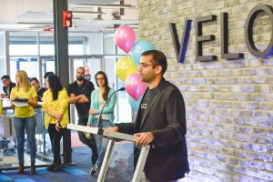Velocity Director Jay Shah speaks at the opening event. Photo by Meehakk Mulani