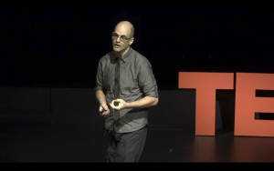 Lecturer in language and literature Andrew Deman. Photo courtesy TEDxUW