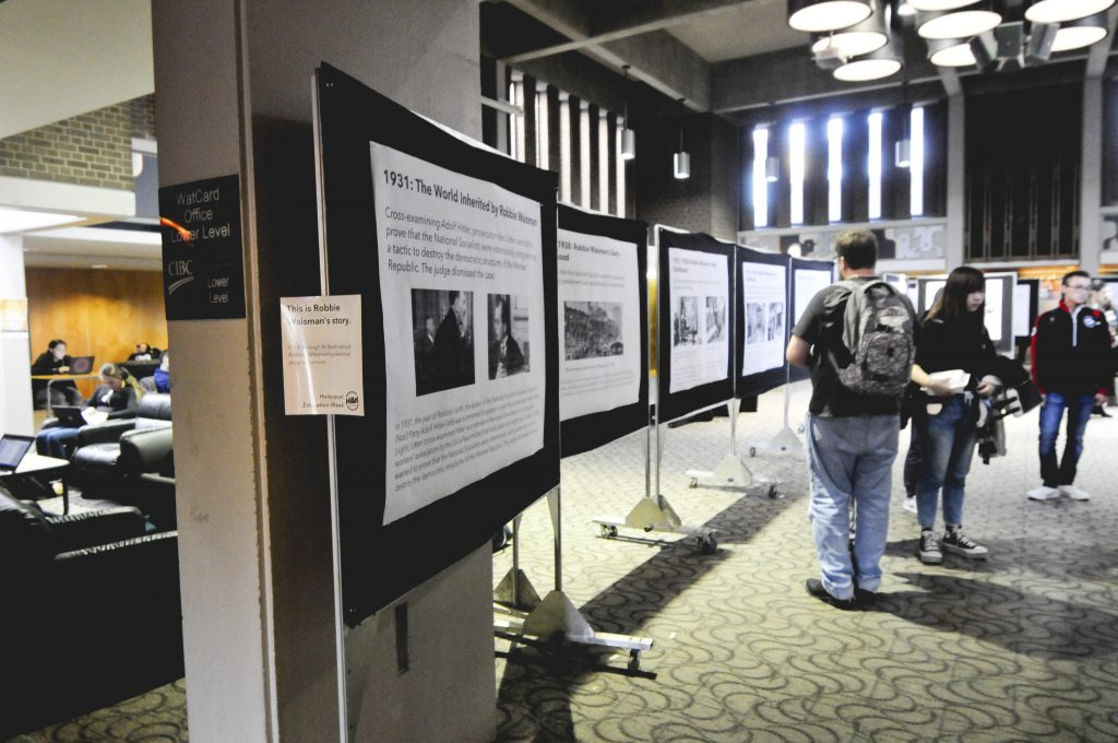 Holocaust Exhibition in the SLC Great Hall. Photo by Ju Hyun Kim
